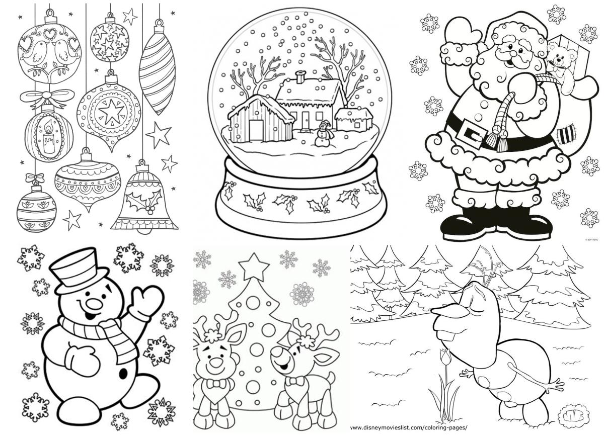 Karácsonyi színezők (gyűjtés)